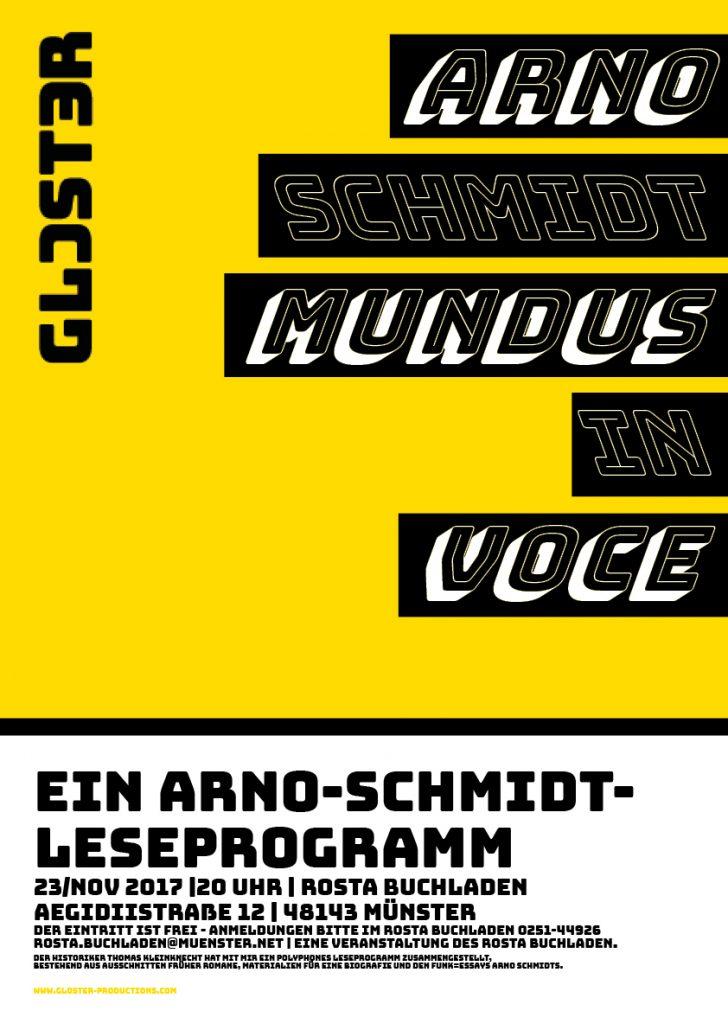 Mundus in Voce - Ein Arno-Schmidt-Leseprogramm 2