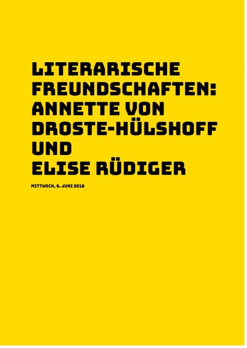 Annette von Droste-Hülshoff und Elise Rüdiger